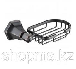 Мыльница метал. решетка OUTE TG2304 чёрная бронза
