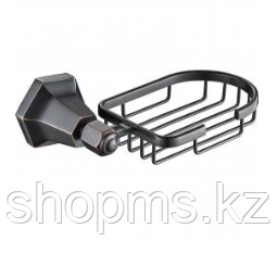 Мыльница метал. решетка OUTE TG2304 чёрная бронза, фото 2