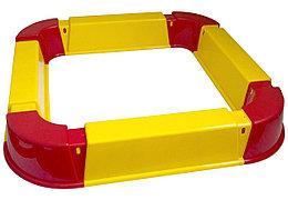 Песочница из Модулей (красный, желтый)