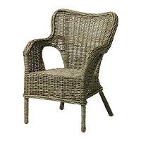 Кресло БЮХОЛЬМА серый Ротанг ИКЕА, IKEA   , фото 1