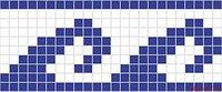 Бордюр из стеклянной мозаики Cenefa 6