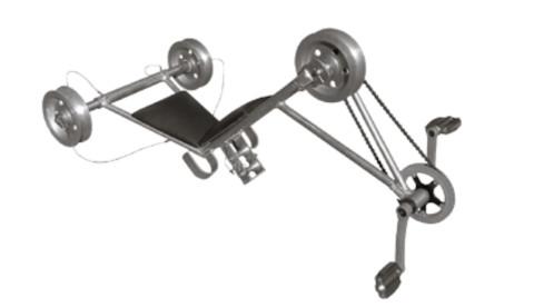 Велосипед монтажный для перемещения по трем проводам расщепленной фазы ВМ-А-400/600