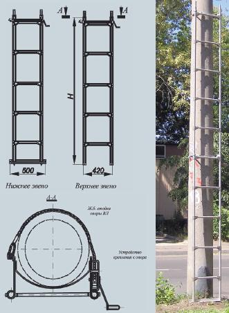 Лестница монтажная ЛМСС-2Н