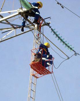 Лестница подвесная с навесной площадкой ЛПС-2,8НП