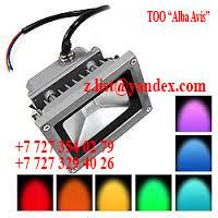 Прожектор светодиодный 80 W софит Цвет; синий,зеленый,красный,желтый