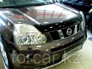 Дефлектор капота SIM  Nissan X-Trail (Ниссан Икстрейл) (2007--2014) (темный)