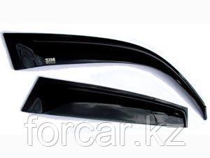 Дефлекторы боковых окон Nissan X-Trail (Ниссан Икстрейл) (2007-2014) (4дв) (темный), фото 2