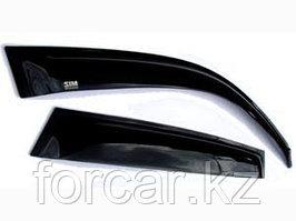 Дефлекторы боковых окон Nissan X-Trail (Ниссан Икстрейл) (2007-2014) (4дв) (темный)