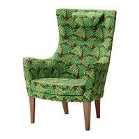 Кресло c высокой спинкой СТОКГОЛЬМ зеленый ИКЕА, IKEA  , фото 1