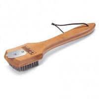 Щетка с бамбуковой ручкой для очистки решетки для приготовления 30 см