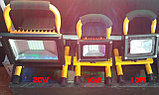 Прожектор светодиодный софиты  10 W переносной с аккумулятором,  матрица SMD, фото 3