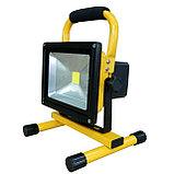 Прожектор светодиодный led 10 W переносной, софит с аккумулятором матрица SMD плитка , фото 3