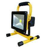 Прожектор светодиодный 20 W переносной с аккумулятором, фото 2