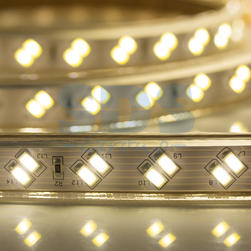 Светодиодная лента SMD 5730 IP67 220V 120 d/m, PREMIUM, Белый, Теплый