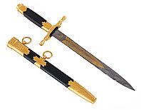 Нож из дамасской стали ручной работы Дипломатический - Купить в Казахстане