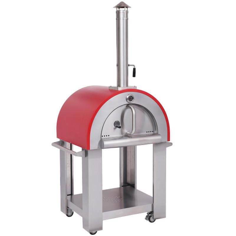 Akita jp Pizza Party  итальянская дровяная печь для выпечки пиццы на дровах, красная