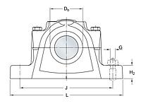 SE 511-609   Корпус подшипника SKF