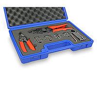 Набор инструментов для обжима коаксиальных кабелей KI-C52