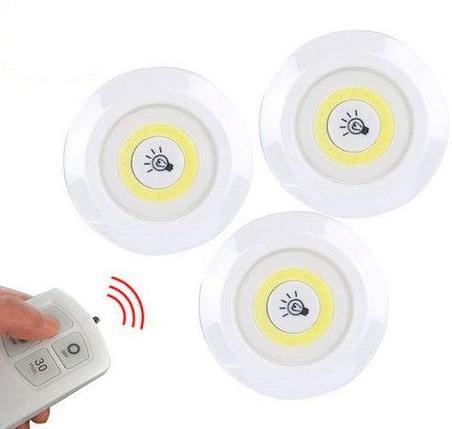 Комплект LED светильников с пультом д/у и таймером LED light with Remote Control Set (3 светильника), фото 2
