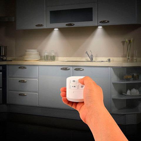 Комплект LED светильников с пультом д/у и таймером LED light with Remote Control Set (3 светильника) - фото 2