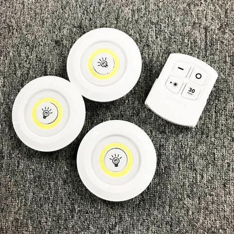 Комплект LED светильников с пультом д/у и таймером LED light with Remote Control Set (3 светильника) - фото 4