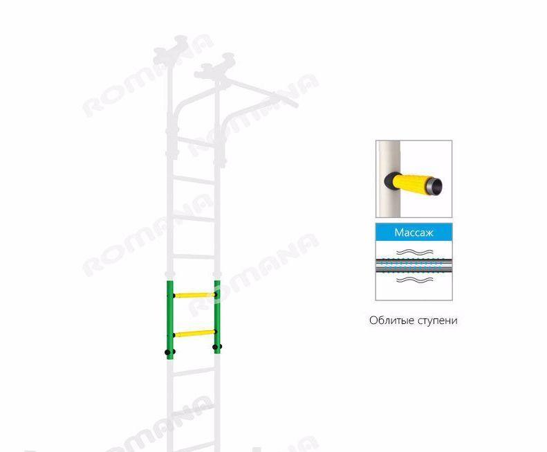 Вставка на 2 ступени (увеличивает высоту на 50 см.)