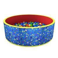 Сухой бассейн «Веселая поляна» + 100 шариков (синий), фото 1
