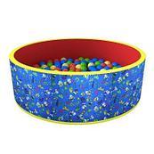Сухой бассейн «Веселая поляна» + 100 шариков (синий)