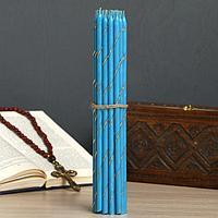 Свечи праздничные, пасхальные, голубые, фото 1