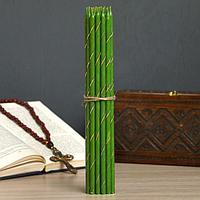 Свечи праздничные, пасхальные, зеленые, фото 1