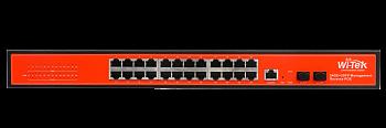 Коммутатор PoE In Wi-Tek WI-PMS326GFR, фото 2