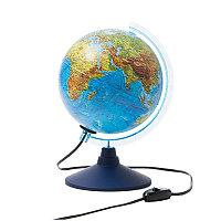 Глобус физико-политический Globen, 21см, с подсветкой на круглой подставке, фото 1