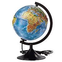 Глобус рельефный физико-политический d 21см. Глобен # 022100185 подсветка, фото 1