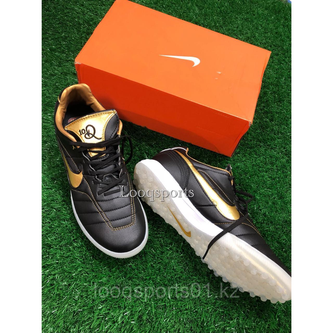 Футбольные сороконожки Nike Q10 черный