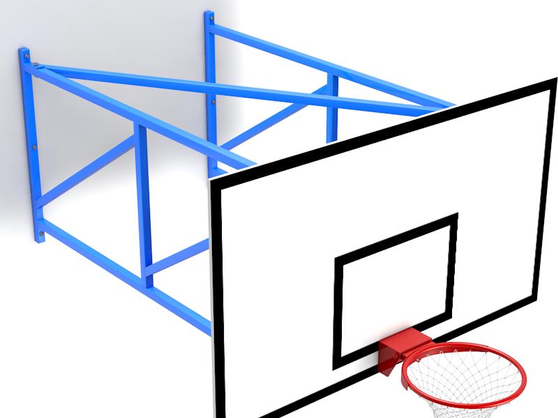 Ферма баскетбольная настенная вынос 2м.