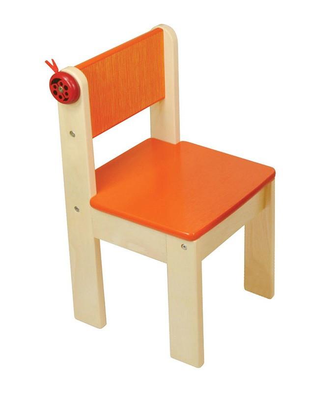 Игрушка детский стульчик - деревянный (оранжевый)