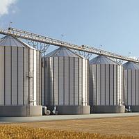 Устройство силоса для хранения зерна