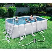 Каркасный бассейн для дачи 412х201х122 см с картриджным фильтром, Bestway 56456