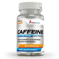 Кофеин безводный, фармацевтический, 60 капс по 100 мг, West Pharm.