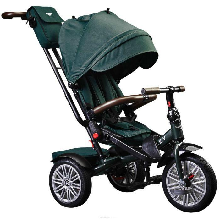 Bentley: Велосипед трехколесный с ручкой,  Spruce (зелёный)
