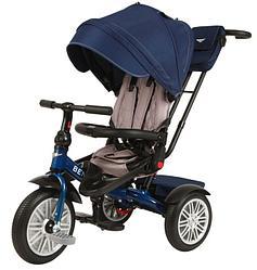 Bentley: Велосипед трехколесный с ручкой, Sequin Blue (синий)