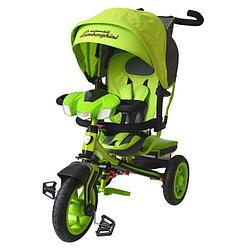 Lamborghini: Велосипед 3-колес.с руч. управ., надув. колеса 12/10, зелёный