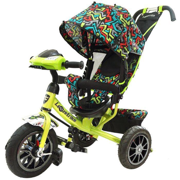 LEXUS TRIKE: Велосипед 3-х колес., с ручкой и со свет., муз., панелью, светло-зел.