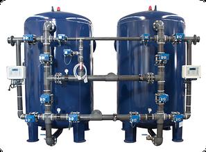 Промышленные системы очистки воды с боковой обвязкой трубопровода