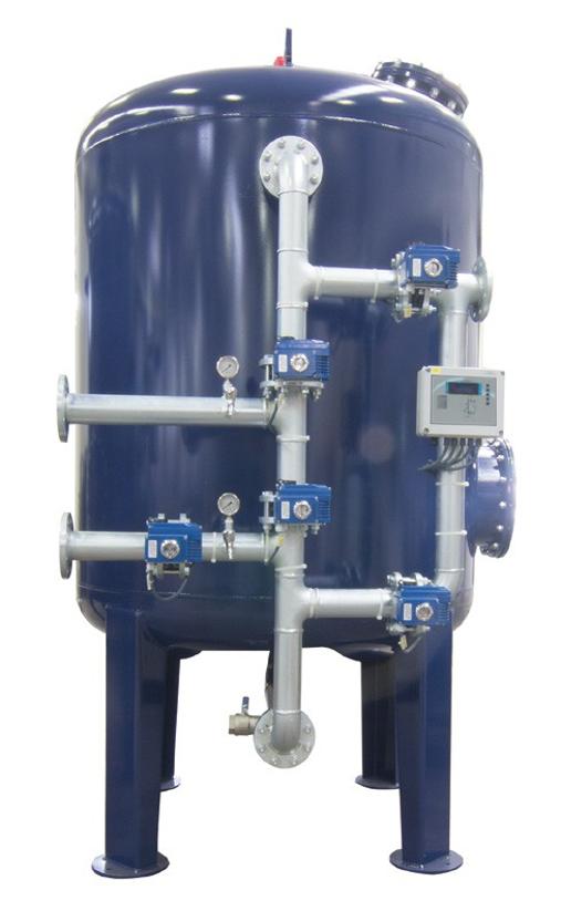 Промышленные системы фильтрации Aqualine c боковой обвязкой (Steel Tank) F-