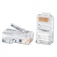 Коннектор телекоммуникационный, SHIP, S901A, RJ 45, Cat.5e, UTP, (100 штук в пакете)