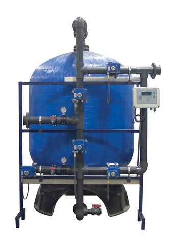 Промышленные системы фильтрации Aqualine c боковой обвязкой (FRP Tank), фото 2
