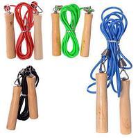 Скакалка с деревянными ручками, фото 1