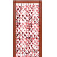 Праздничный занавес 'Бабочки', 100х200 см, цвет красный