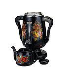 Самовар электрический  с заварочным чайником Черный, фото 2